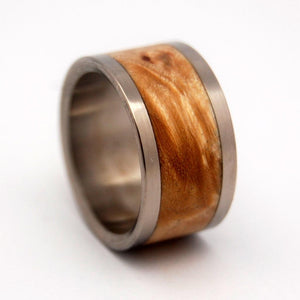 Moon | Titanium and Maple Wedding Rings - Minter and Richter Designs