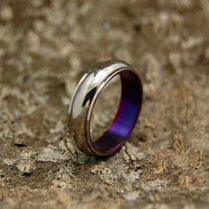 LOVE'S HARMONY PURPLE | Purple Anodized Titanium Ring - Unique Wedding Rings - Minter and Richter Designs