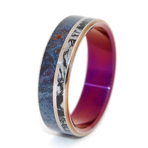 That Can Light a Room | M3 and Wood - Titanium Wedding Band - Minter and Richter Designs