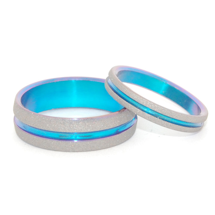 MAGICAL | Hand Anodized Titanium - Unique Wedding Rings - Wedding Rings Sets - Minter and Richter Designs
