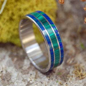 Malachite Stone Wedding Rings | TWIN SPIRES