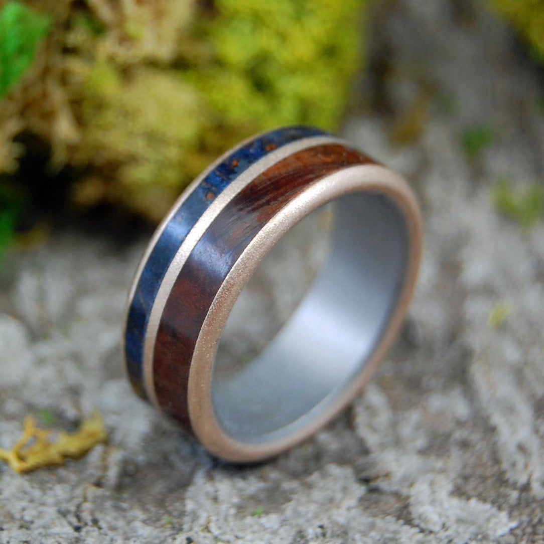 MANZANITA MAPLE BRONZE | Wood, Titanium & Bronze Men's Wedding Rings - Minter and Richter Designs