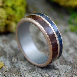 Mens Wedding Ring - Mens Ring | MANZANITA MAPLE BRONZE