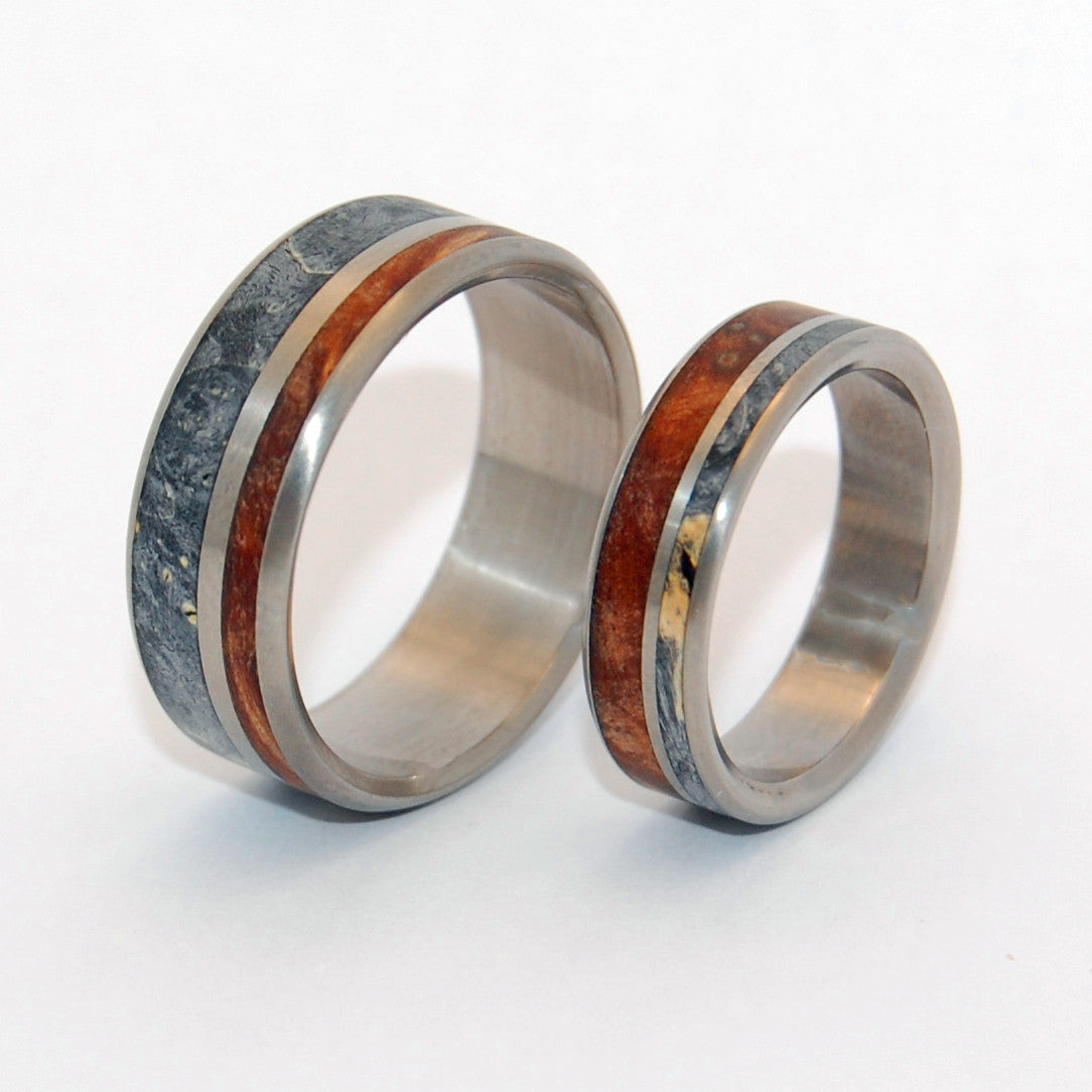 TO HAVE AND HOLD | Dark Maple Wood & Black Box Elder Wood - Wooden Wedding Rings - Minter and Richter Designs