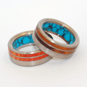 Meant To Be Together | Titanium Wedding Rings