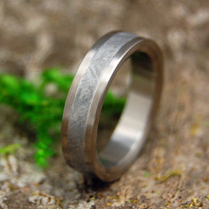IRON WARRIOR | Meteorite & Titanium Men's Handcrafted Wedding Rings - Minter and Richter Designs