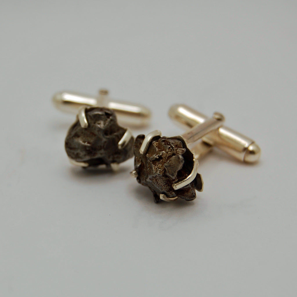 Meteorite Cuff Links | Groomsmen Cuff Links