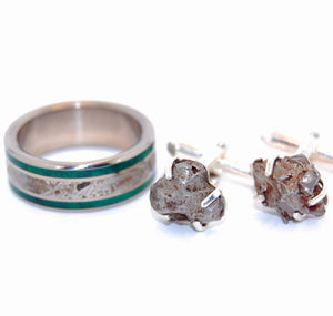 Meteorite Cuff Links | Groomsmen Cuff Links - Minter and Richter Designs