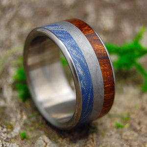 Mens Wedding Rings - Custom Mens Rings - Meteorite Rings | EARTH AND SPACE AND SEA