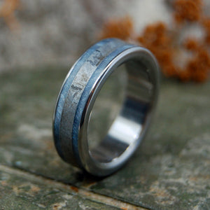 COMET'S REPOSE | Men's & Women's Meteorite Wedding Rings - Minter and Richter Designs