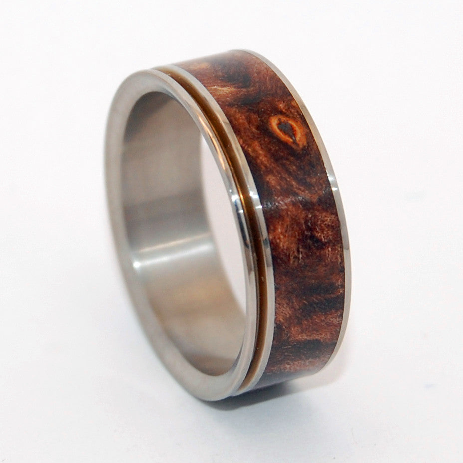 Miracles Happen - 1 Pinstriped Edge | Wooden Wedding Rings