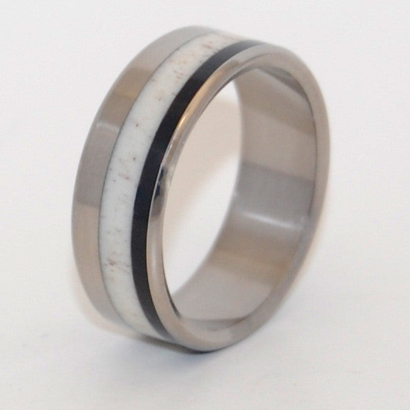 American Man | Horn and Titanium Wedding Ring