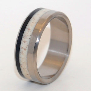 AMERICAN MAN | Moose Antler & American Bison Horn - Unique Wedding Rings - Minter and Richter Designs