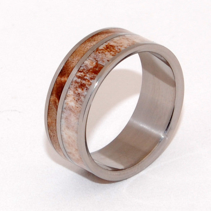 KATAHDIN | Maple Wood & Moose Antler - Unique Men's Wedding Ring - Minter and Richter Designs