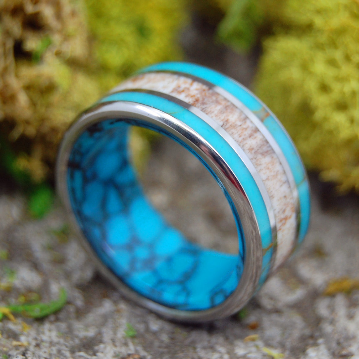 Moose Antler Wedding Ring - Mens Ring | MOOSE IN THE SEA OFF MAINE