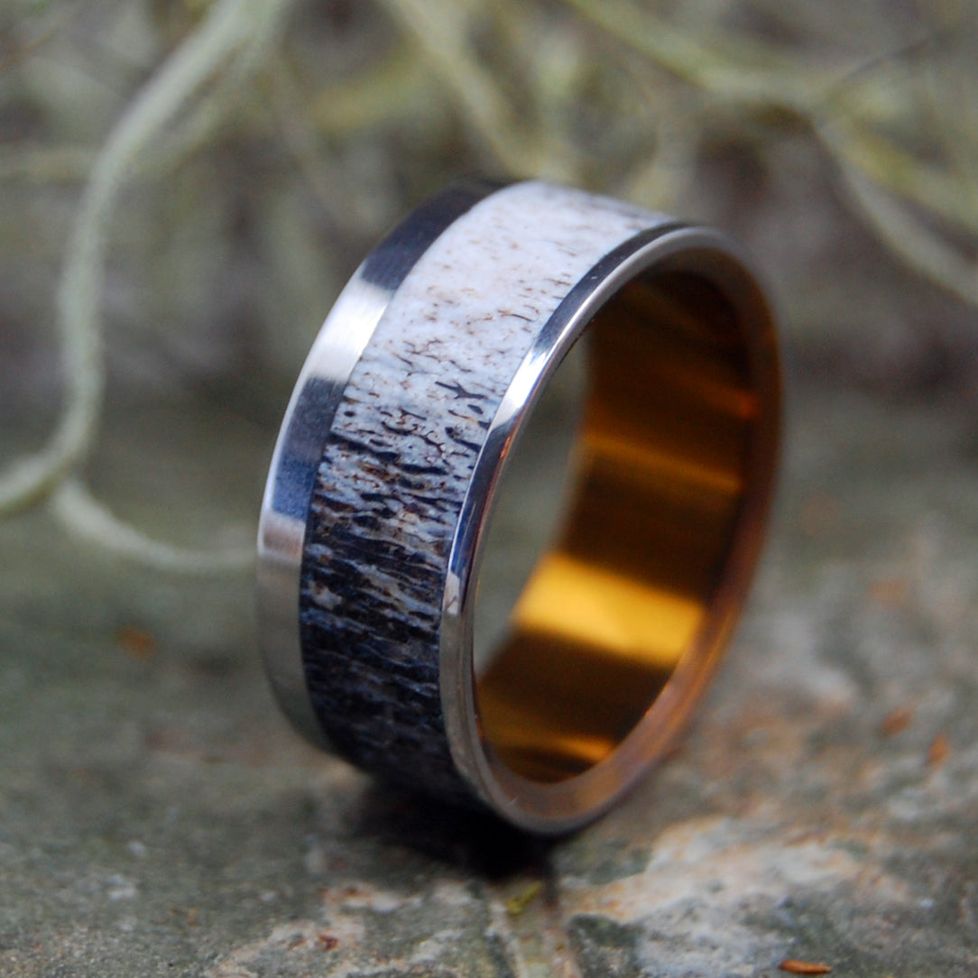FOUND MOOSE ANTLER | Antler & Titanium Men's Wedding Rings - Minter and Richter Designs