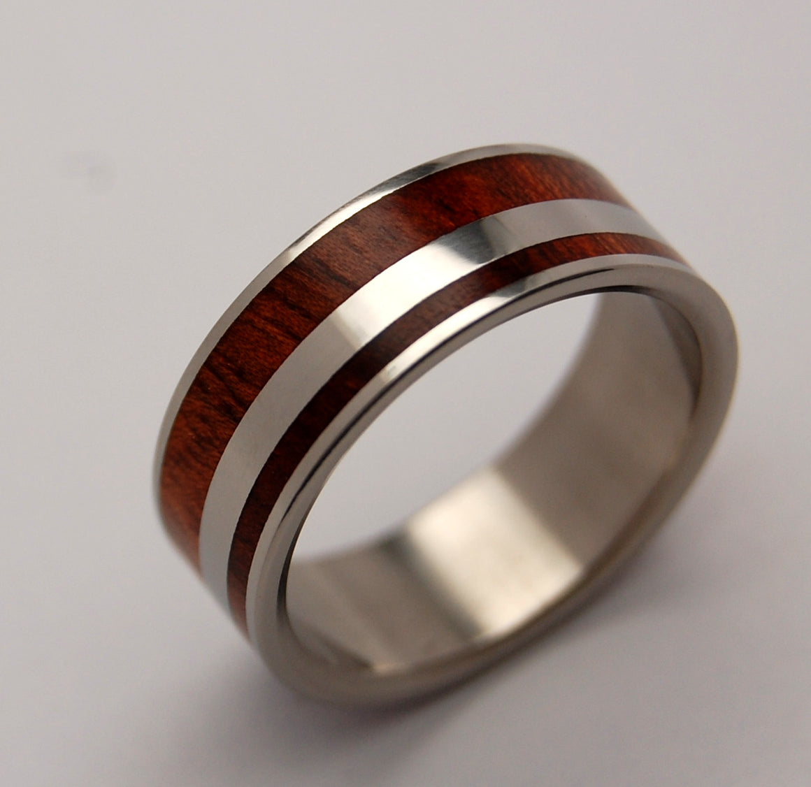 MORNING OF CREATION | Bloodwood & Titanium Men's Wedding Rings - Minter and Richter Designs