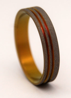 CHANCE OF LIGHTNING | Anodized Titanium Wedding Rings - Unique Wedding Rings - Minter and Richter Designs