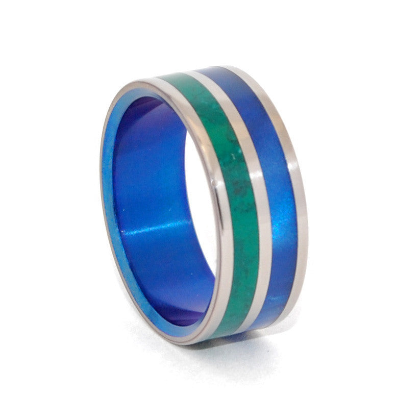 New Dawn | Jade Titanium Wedding Ring - Minter and Richter Designs