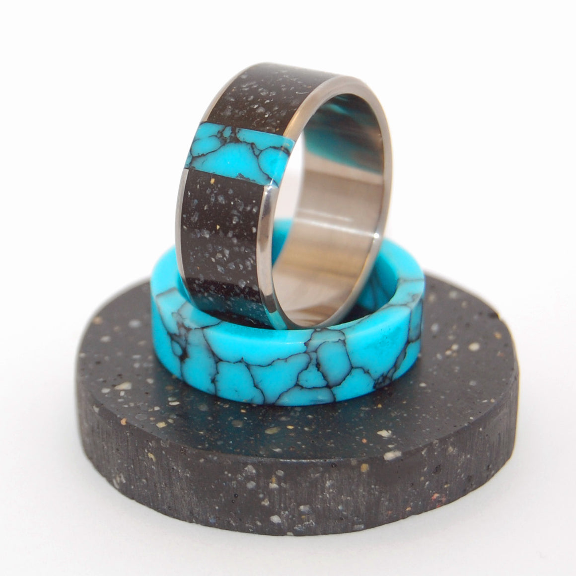 Icelandic Lava - Beach Sand Wedding Ring - Icelandic Wedding Rings - NO ONE ELSE