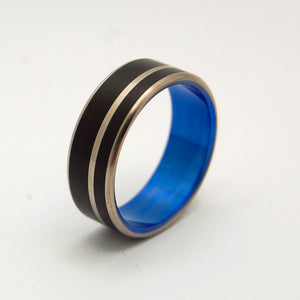 Blue Noir | Hand Anodized Titanium Wedding Ring - Minter and Richter Designs