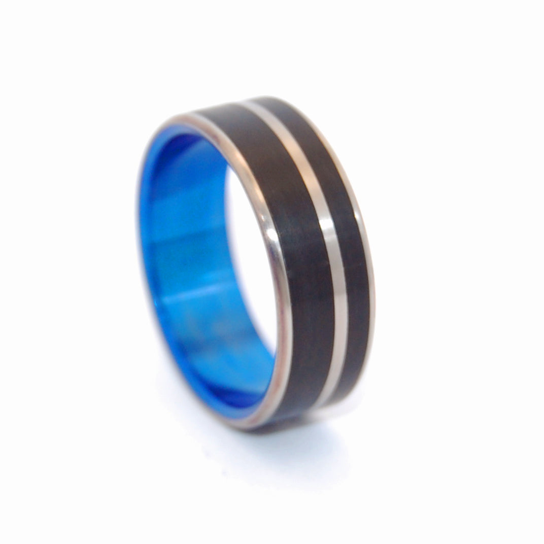 Blue Noir | Hand Anodized Titanium Wedding Ring