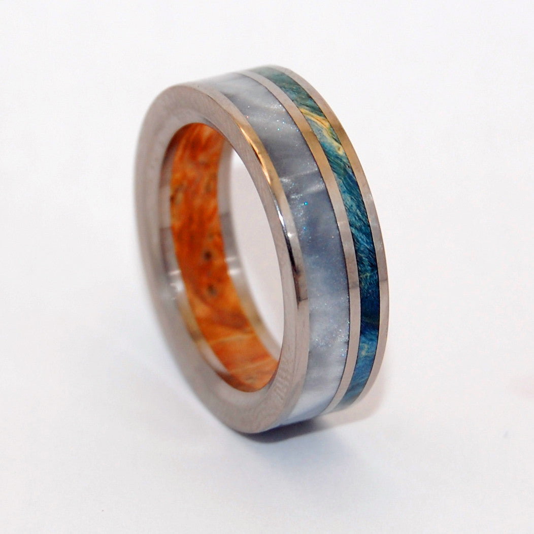 Of Your Heart | Handcrafted Wooden Titanium Wedding Band - Minter and Richter Designs