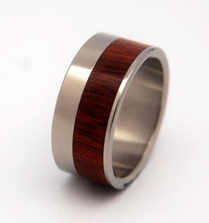 DAUPHIN II | Bloodwood & Titanium - Unique Wedding Rings - Wooden Wedding Rings - Minter and Richter Designs