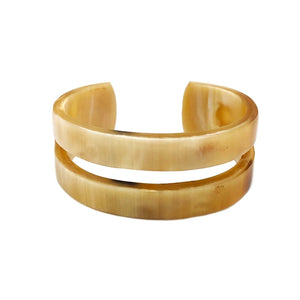 OMALA POLISHED HORN ONE SLIT CUFF | Horn Bracelet - Minter and Richter Designs