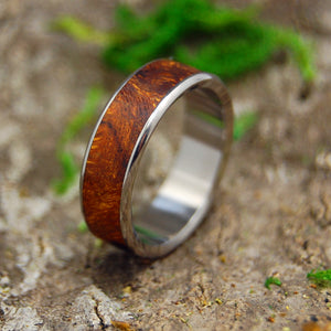 Mens Wedding Ring - Womens Wedding Ring -Wood and Titanium Wedding Band | ONE SOUL