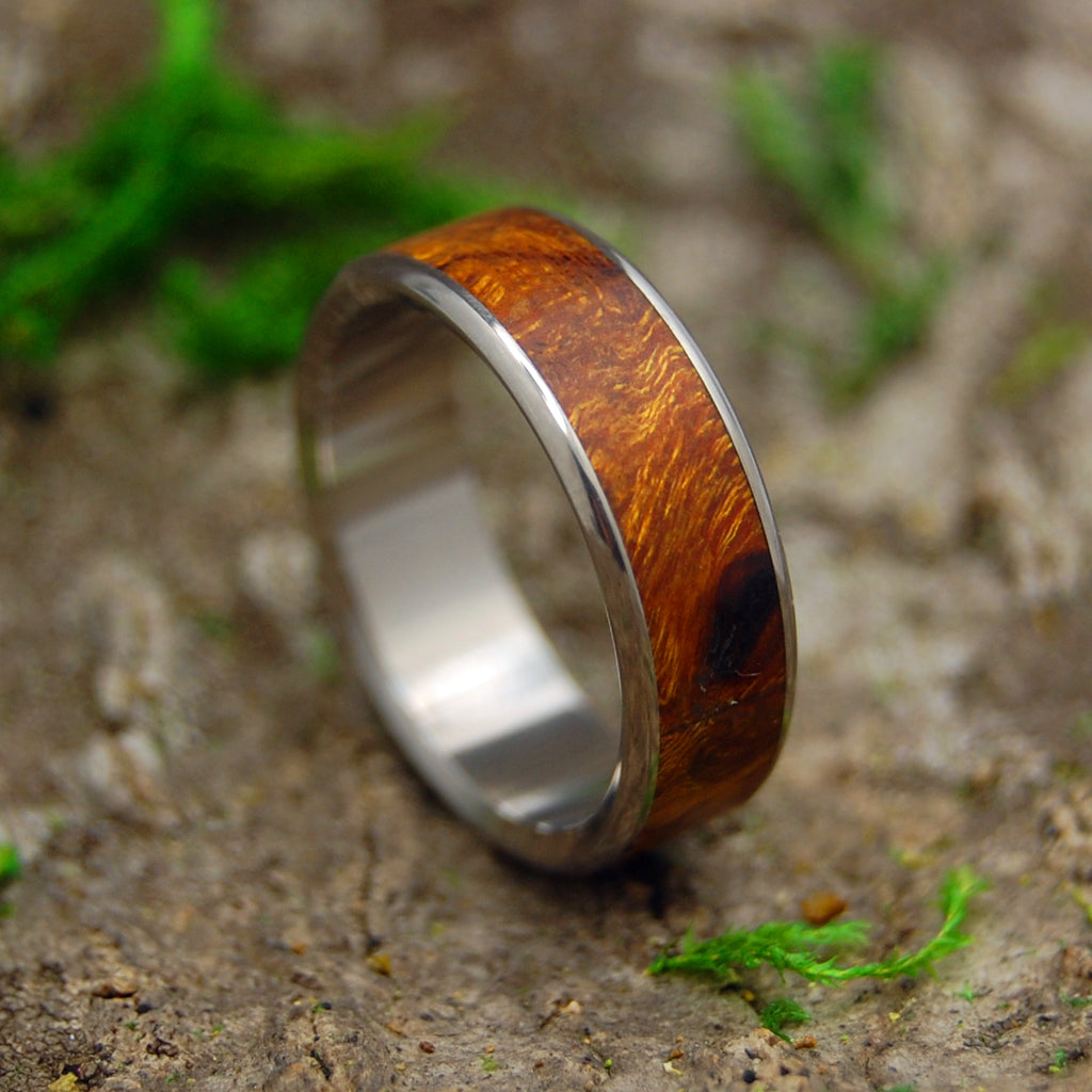 ONE SOUL | Desert Ironwood & Titanium Custom Men's Wedding Rings - Minter and Richter Designs