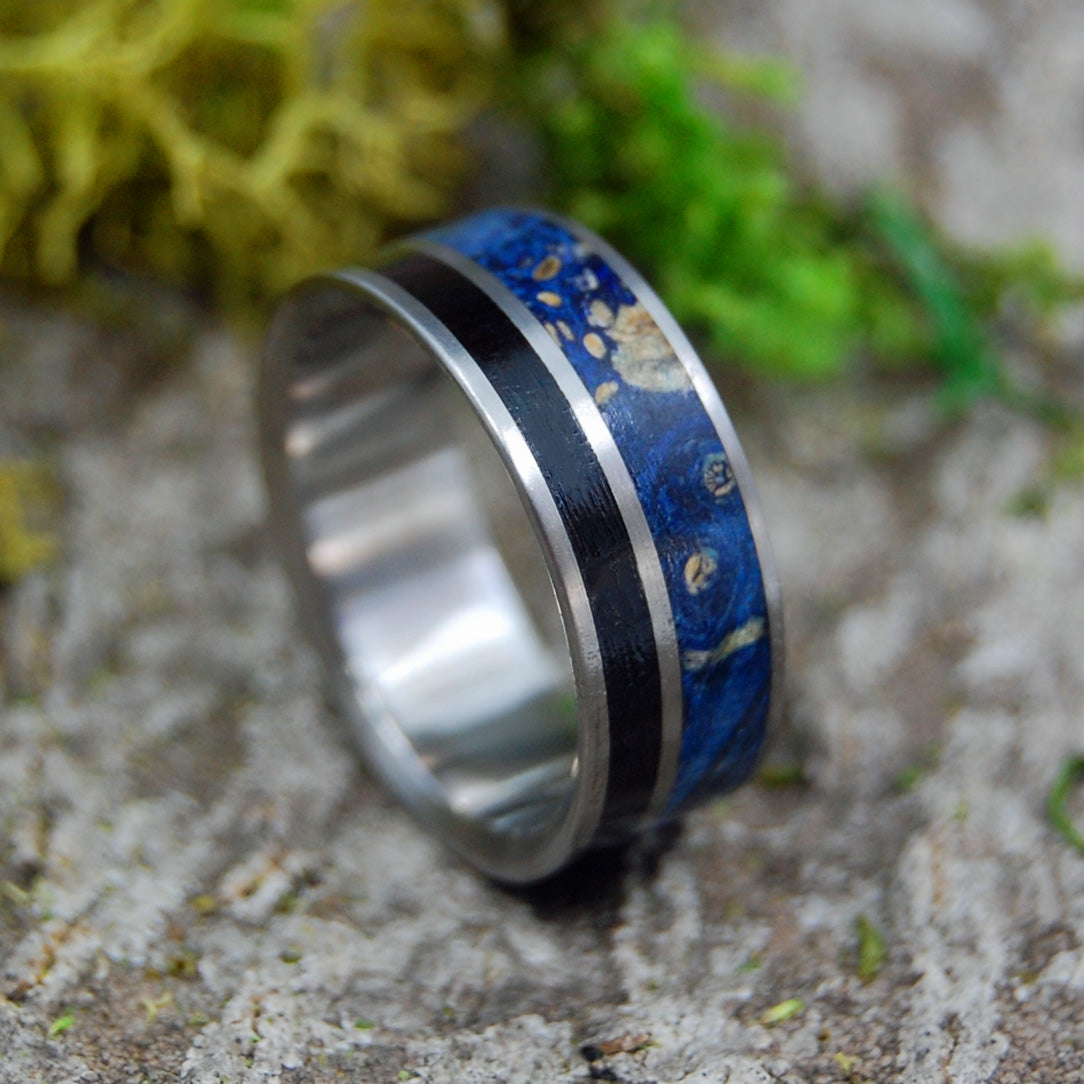 Mens Wedding Rings - Custom Mens Rings - Wood Rings | HIS HEART LISTENS