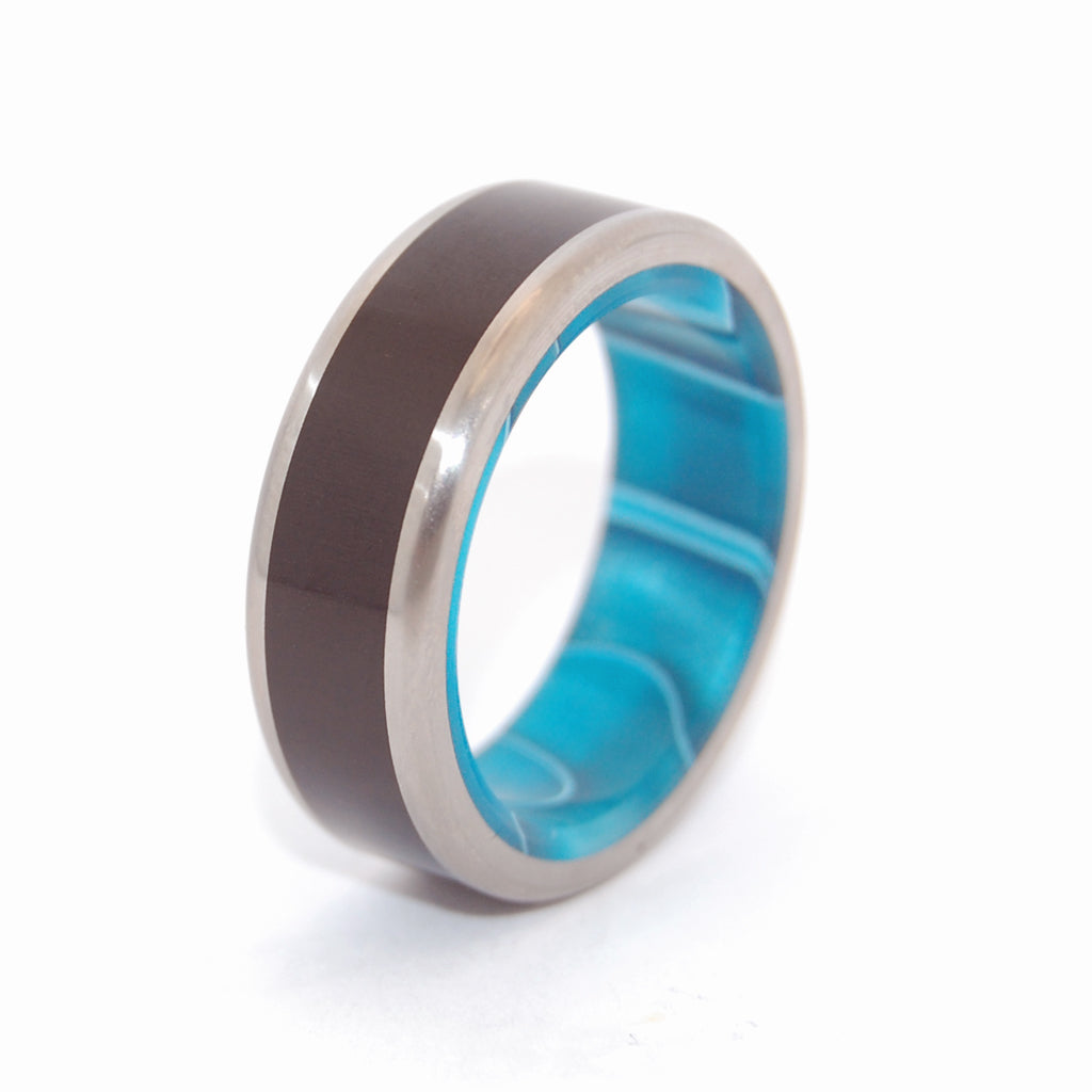Men's Titanium Wedding Rings - Stone Wedding Rings | ONYX OCEAN