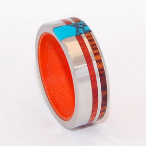 Secret Orange | Custom Titanium Wedding Rings