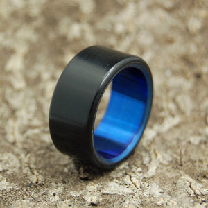Men's Black Wedding Rings- Handcrafted Titanium Wedding Rings | OTHELLO