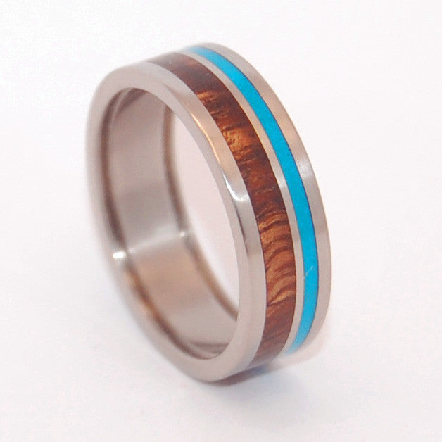 Pop-A-Top Wooded Cove | Beer Bottle Opening Wedding Ring