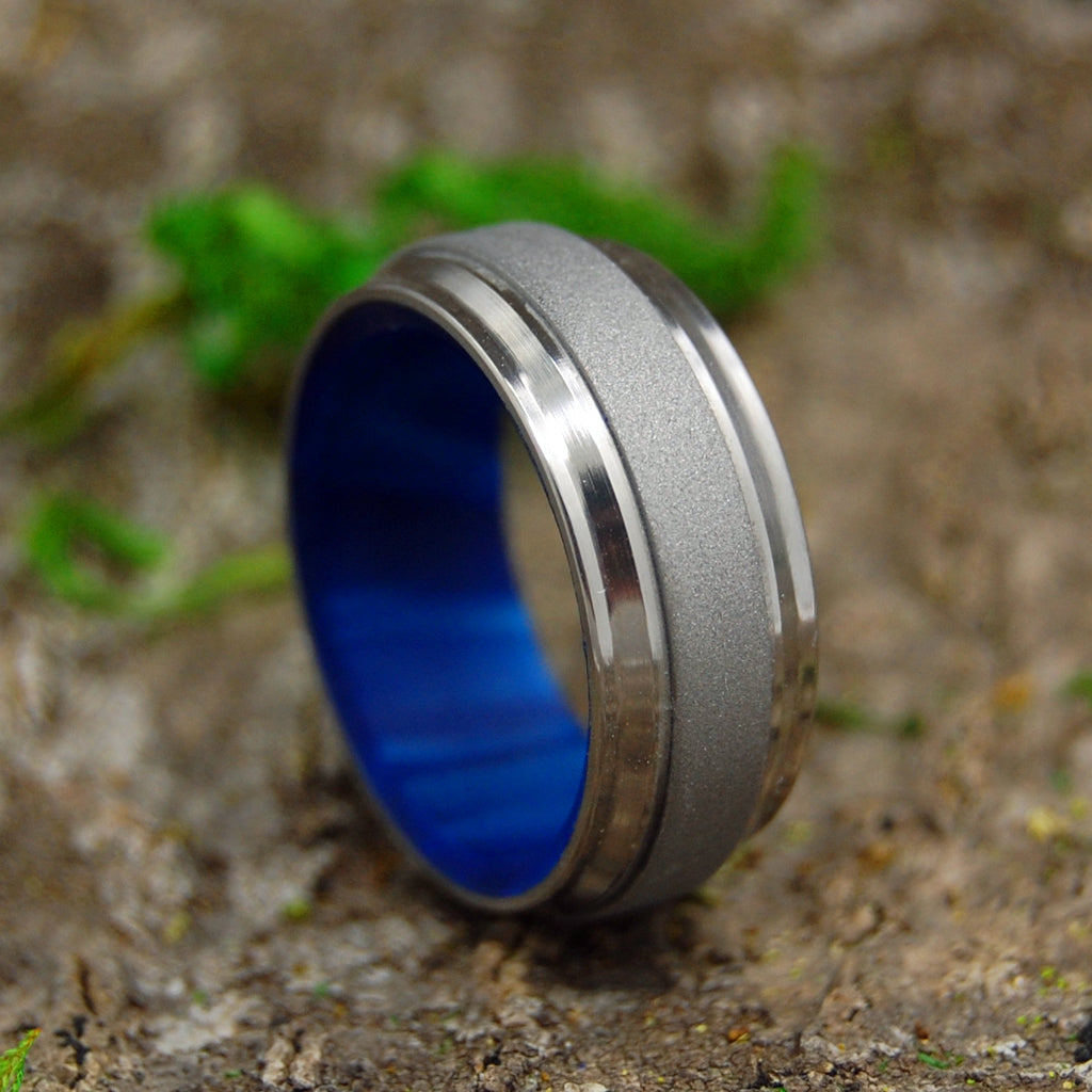 Titanium Wedding Ring - Mens Ring | PRINCE IN BLUE - Minter and Richter Designs