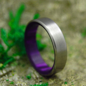 Purple Wedding Ring - Handcrafted Titanium Wedding Ring | ROYAL SWIM IN