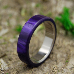 Purple Wedding Ring - Handcrafted Titanium Wedding Ring | ROYAL SWIM OUT - Minter and Richter Designs