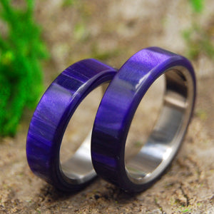 Wedding Ring Set - Purple Wedding Rings | ROYAL SWIM OUT