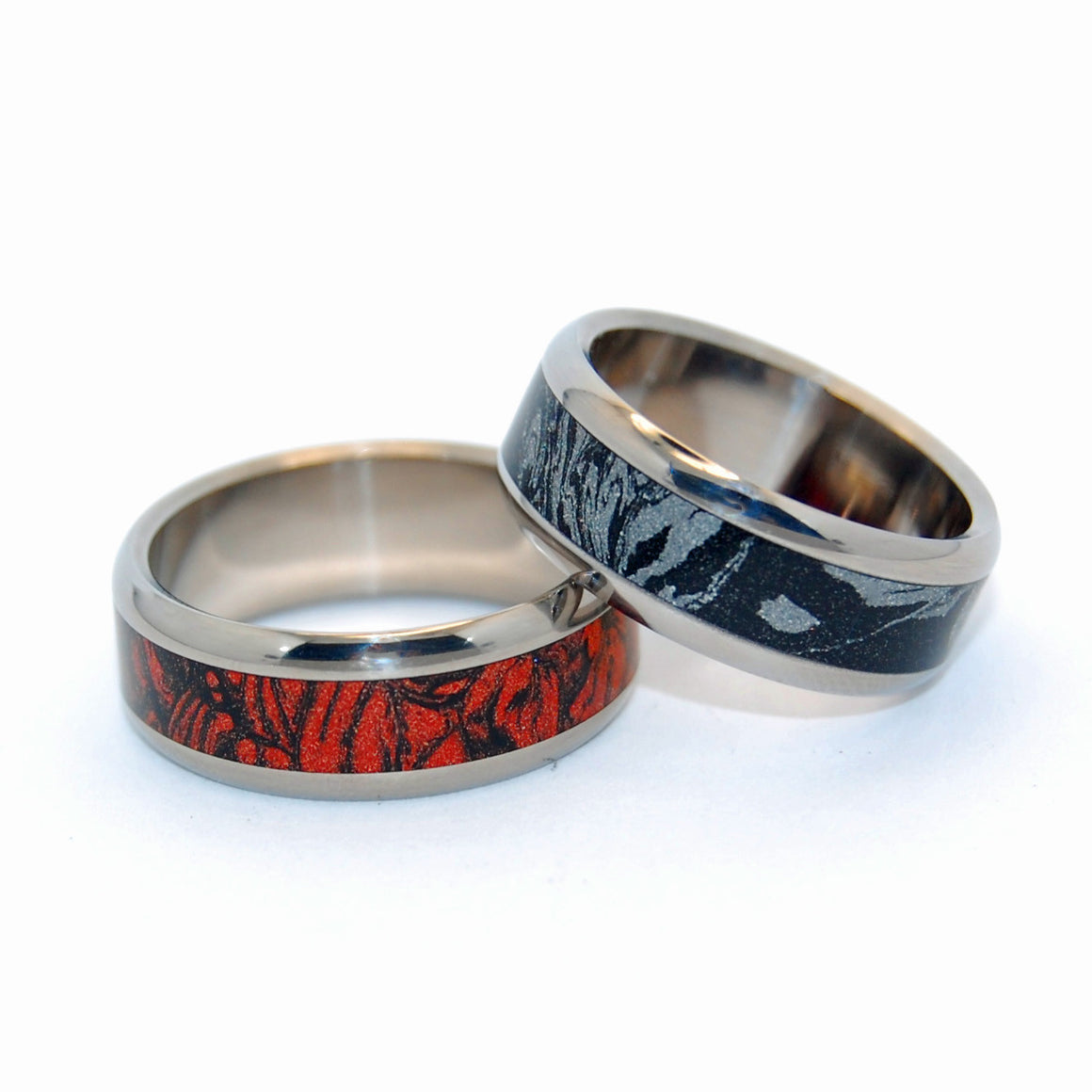 Katana and Kunoichi | M3 and Titanium Wedding Ring Set