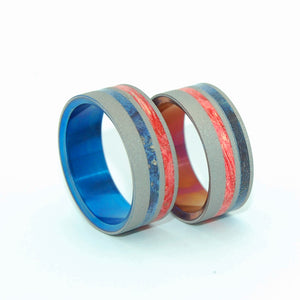 Love Pride | Wood and Titanium Wedding Ring Set