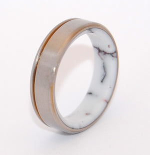 Running Free | Handcrafted Stone and Titanium Wedding Ring