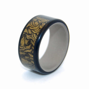 Black and Gold Samurai | M3 Titanium Wedding Ring - Minter and Richter Designs