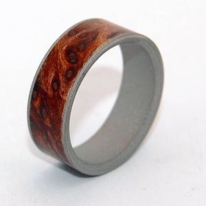 Mens Ring - Redwood Burl - Titanium Wedding Ring | MIGHTY ONE - Minter and Richter Designs