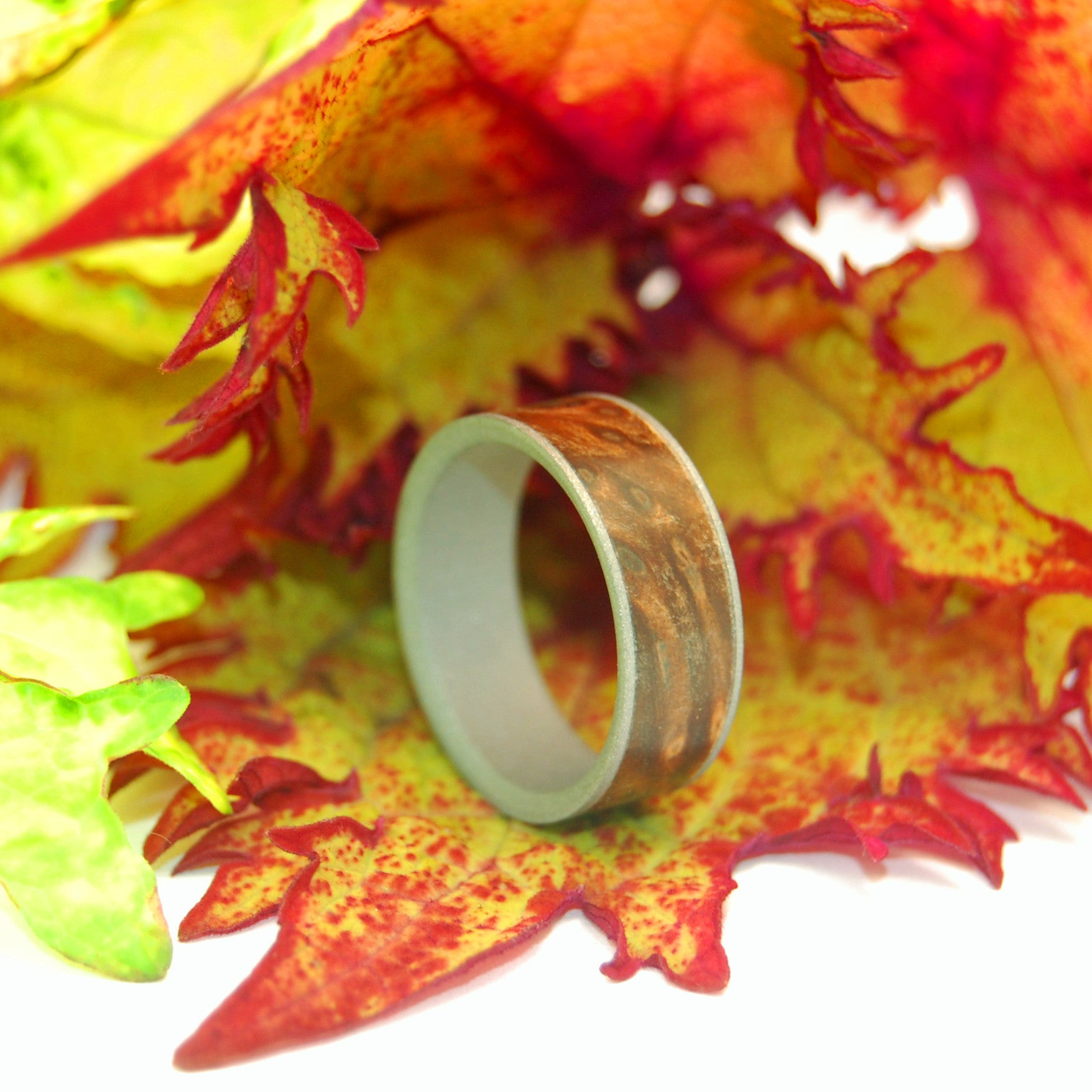 Minter Richter Titanium Rings Wooden Wedding Rings Mighty One