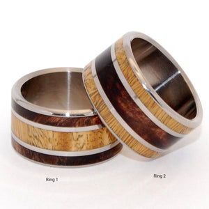 MEET ME FOREST | Ancient Kauri & Desert Ironwood - Men's & Women's Wedding Rings - Minter and Richter Designs