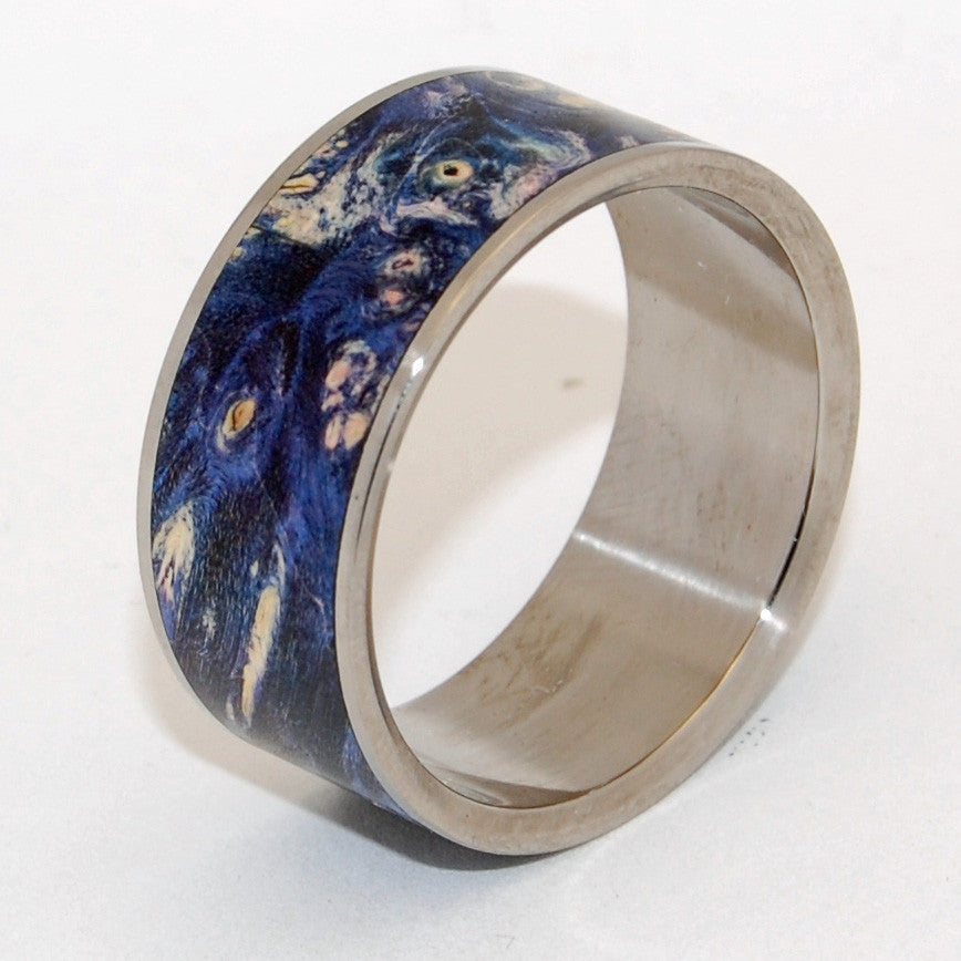 SHOOTING STARS | Blue Purple Box Elder - Wooden Wedding Rings - Minter and Richter Designs