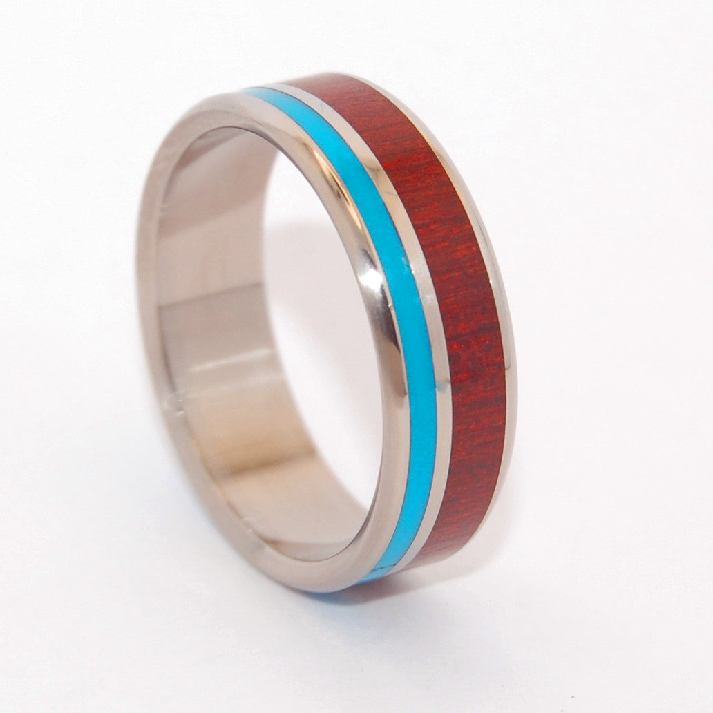 Shore Up My Heart | Handcrafted Titanium Wedding Band