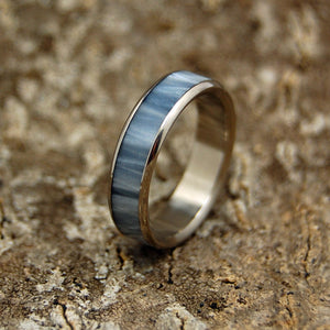 Slim Gray Marbled | Titanium Women's Wedding Band - Minter and Richter Designs
